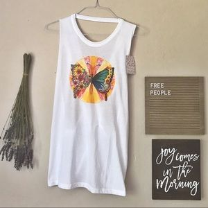RARE NWT FP Movement Butterfly Cross Back Tank